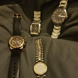 Lot of 4 mens Name Brand watches